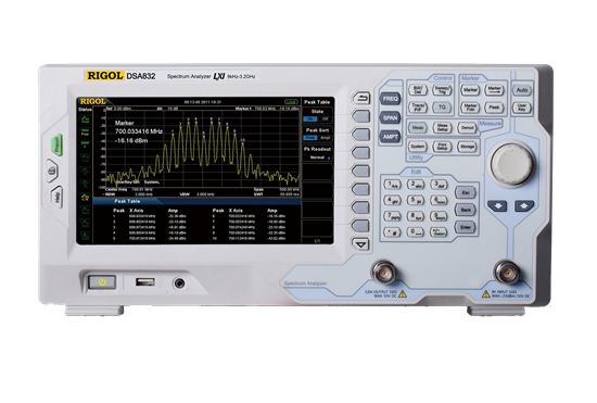 Rigol DSA 832-TG 9kHz-3.2GHz Spectrum Analyser with tracking Generator